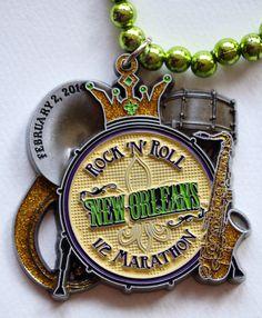 Rock 'n' Roll New Orleans half marathon medal 2013