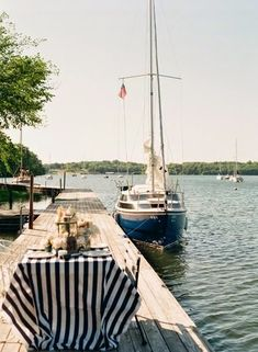 dock picnic in the summertime.