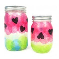 Watermelon Mason Jar/TISSUE CIRCLES