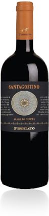 SANTAGOSTINO BAGLIO SORIA ROSSO Country : Italy Region : Sicily Winery Name : Firriato Classification : IGT Sicilia Grape varieties : 50% Nero D'Avola - 50% Syrah Alcohol : 14.5 % by vol. Tasting notes : Deep ruby red colour, beautiful notes of mature red fruits (cherry, strawberry) and hints of spices. Warm persistent finish Serving temperature : 16 - 18° C.