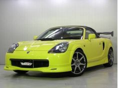 2002 Toyota MR2 Spyder, stage 1 lip kit, in yellow