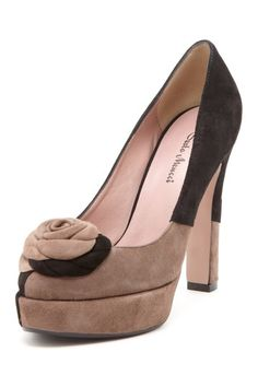 Suede Florette High Heel Pumps.