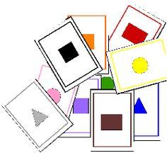 Vormen en kleurenspel voor kleuters, free download /Jeux à imprimer et à fabriquer