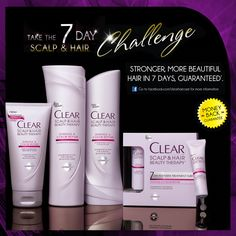 Strong, beautiful hair in 7 days: Take the Clear 7-Day Challenge.