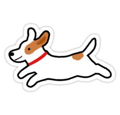 Jack Russell Terrier die-cut sticker