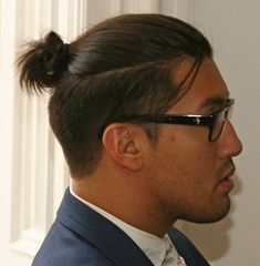 businessman hairstyles topknot undercut pictures