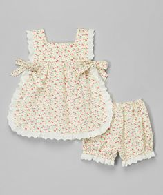 Look at this Yellow Floral Top & Bloomers - Infant & Toddler on #zulily today!
