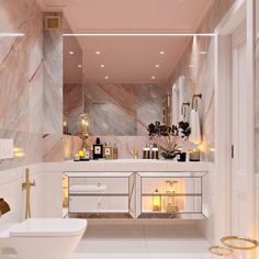 Notes from the Weekend & a Few Lovely Links dream house luxury home house rooms bedroom furniture home bathroom home modern homes interior penthouse Bad Inspiration, Bathroom Inspiration, Bathroom Ideas, Bathroom Sinks, Pink Bathroom Decor, Bathroom Storage, Pink Bathroom Interior, Bathroom Marble, Bathroom Goals