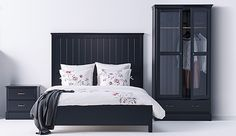 traditional black bedroom furniture. Beautiful Traditional Our UNDREDAL Black Bedroom Furniture Sets Have A High Quality Feeling The  Rustic Brass Handles Intended Traditional Black Bedroom Furniture D