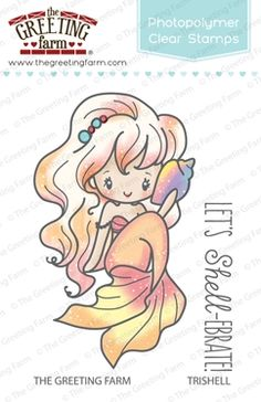 The Greeting Farm TRISHELL MERMAID Clear Stamps TGF258 at Simon Says STAMP!