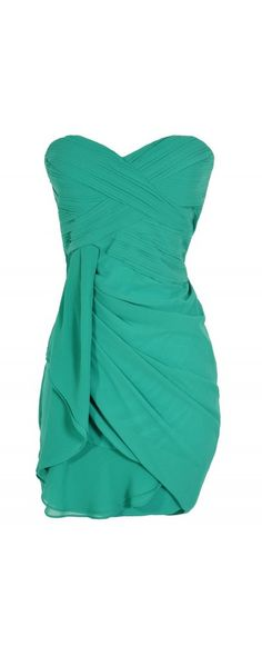 Lily Boutique Dreaming of You Chiffon Drape Party Dress in Green by Minuet, $62  www.lilyboutique.com