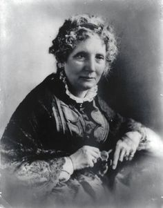 """Harriet Beecher Stowe -(1811 – 1896) wrote """"Uncle Tom's Cabin"""" about slavery in the south, sold over 500,000 copies in the US, helped to bring the nation's attention to the horrors of slavery"""