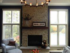 Stone Fireplace. Rustic. Caroline Design. Interior Designs. | portfolio