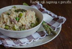 Risotto asparagi e pancetta