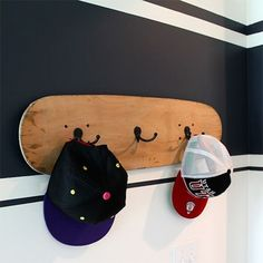 awesome Before and after teen boys bedroom makeover skateboard coat rack. The coat rack .