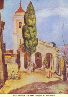 Pierre-Auguste Renoir. A Church at Cagnes. Olga's Gallery.
