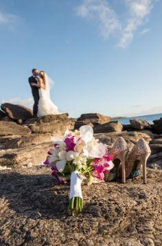 Flowers by Dellables at Kapalua Bay | beach shots | Maui Wedding | Maui Bride | Destination Wedding