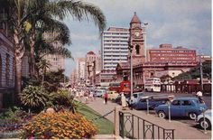 Don't recall West Street as a two way street. Durban South Africa, Beautiful Places In The World, Amazing Places, Kwazulu Natal, My Family History, African History, Historical Photos, Live, East Coast