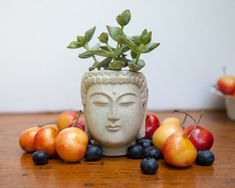 Small+Buddha+Head+Planter++Buddha+Head+Planter+1+by+brooklynglobal,+$25.00