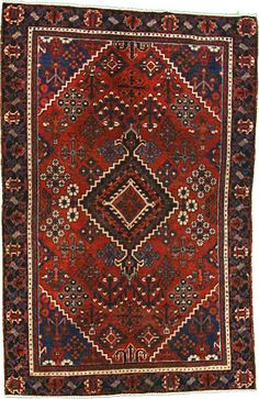 Red 3' 11 x 6' 1 Joshaghan Rug | Persian Rugs | eSaleRugs