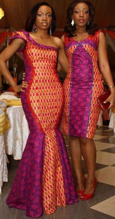 #mermaid dress and vibrant colors  African Fashion #2dayslook #AfricanFashion #nice  www.2dayslook.com  repinned by thecelestinecollection.com
