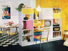 Mid Century Room Divider Bookshelf