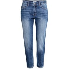 Girlfriend Jeans $39.99 (€38) via Polyvore featuring jeans, pants, distressing jeans, destruction jeans, torn jeans, destructed jeans and ankle jeans