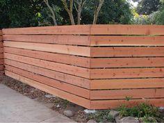 Horizontal Fence Styles Horizontal Wood Fence Designs with Horizontal Fence Styles Horizontal Wood Fence Designs Thesouvlakihouse Horizontal Slat Fence, Slatted Fence Panels, Bamboo Fence, Lattice Fence, Brick Fence, Front Yard Fence, Cedar Fence, Fence Gate, Redwood Fence