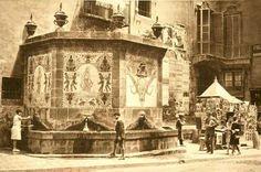 Plaça  Santa Anna 1930 Barcelona City, Barcelona Catalonia, Santa Anna, Spain, Positive Feedback, Painting, Retro, Travel, Xmas