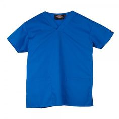 The Dickies Unisex Scrub top offers a generous fit, making it super comfy to wear. The neckline is a flattering v-neck and there are two roomy pocket… Dentists, Scrub Tops, Nurses, Scrubs, Royal Blue, Dental, Perfect Fit, How To Make, How To Wear