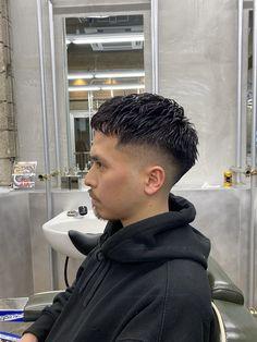 Pop Hair, Fade Hair, Hairstyle Men, Haircuts For Men, Hair Designs, Barber Shop, Curly Hair Styles, Hair Cuts, Twitter