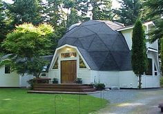Timberline Geodesic Domes make it easy, practical and affordable for people to construct their own homes. Great Buildings And Structures, Modern Buildings, Dream Home Design, My Dream Home, Geodesic Dome Homes, Home Structure, Future Buildings, Underground Homes, Dome House