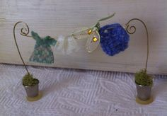 Fairy Garden Clothes Line, Fairy Washing Line, Doll House Clothes Line, Woodland Garden Accessory, Fairy Garden Accessory Garden Front Of House, Garden In The Woods, Fairy Clothes, Clothes Line, Lil Fairy Door, Diy Garden, Indoor Garden, Diy Kit, Fairy Furniture