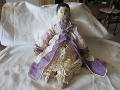 Antique Wooden Peg Doll German All Original Paint and Clothes | eBay