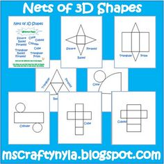 Folding 3d Shapes!  Freebie from Mrs. Crafty Nyla!