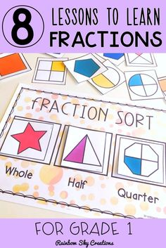 Fractions hands-on, differentiated activities to develop skills and an understanding when modelling, representing, investigating and interpreting fractions (halves). Fraction lessons to recognising… Fraction Activities, Fun Math Activities, Montessori Activities, Math Resources, Math Games, Teaching Numbers, Teaching Math, 1st Grade Math, Grade 1