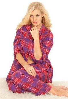 Plaid flannel pjs by Dreams & Co.® | Plus Size Holiday Magic | fullbeauty.com