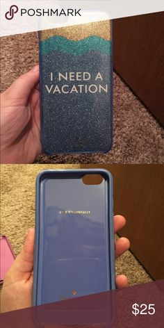 Kate Spade iPhone 6 Plus case No scratches! Gorgeous glitter for summer! kate spade Accessories Phone Cases