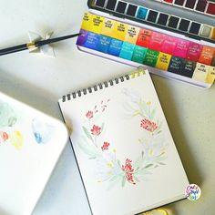 Very light wreath #calligrafikas #watercolor #grafikaflora #botanicalwatercolor Paper: Maruman Art Spiral sketchbook Paint: Schmincke Horadam watercolors Brush: Silver Brush Black Velvet Voyage rund no 6