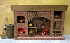 Dolls House Fireplace, Colonial,Medieval, Puppenhaus Kamin dukkehus peis casa de…