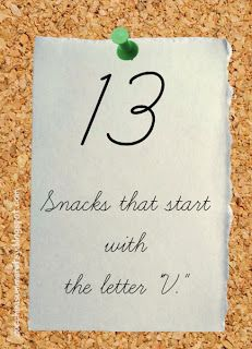 37 snacks starting with the letter