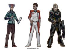 Various characters for Postworld Games.