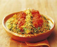Bulgur-Gemüse mit Chili-Tomaten