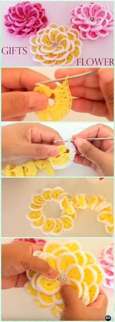 Flores de crochê, diversos gráficos grátis #flores #croche #crochet #graficos #artesanato