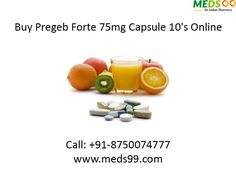 Pregeb Forte Tablet is used for the treatment of nerve damage pain, seizures, anxiety disorder in adults and other conditions. If you are also dealing with one of such conditions then, buy Pregeb Forte capsules online from Meds99.com at affordable prices.