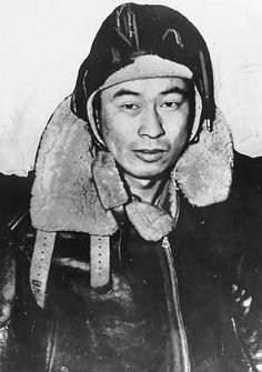 Ben Kuroki, from Hershey, Nebraska, - flew a total of 58 combat missions during World War II, During World War II, he became one of only a handful of Japanese-Americans to see air combat, and was America's only Nisei (child of Japanese immigrant parents) to see duty over mainland Japan.