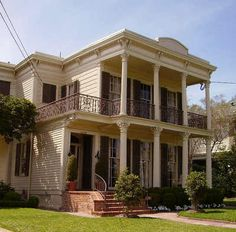Double Gallery House in the Garden District of New Orleans