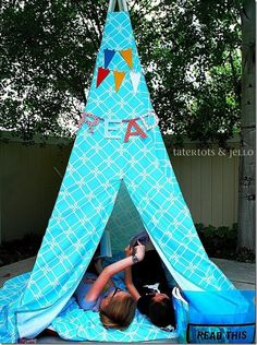 15 Ways to make tent (DIY tent). I love the idea of a summer reading tent!