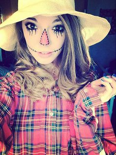 A Scarecrow: Throw on a flannel shirt, a floppy hat, and maybe a little straw here or there to create this classic Halloween costume.