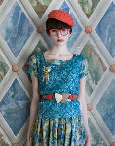 Adorable vintage styling by fashion blogger and photographer Shae Acopian Detar. #NMFallTrends